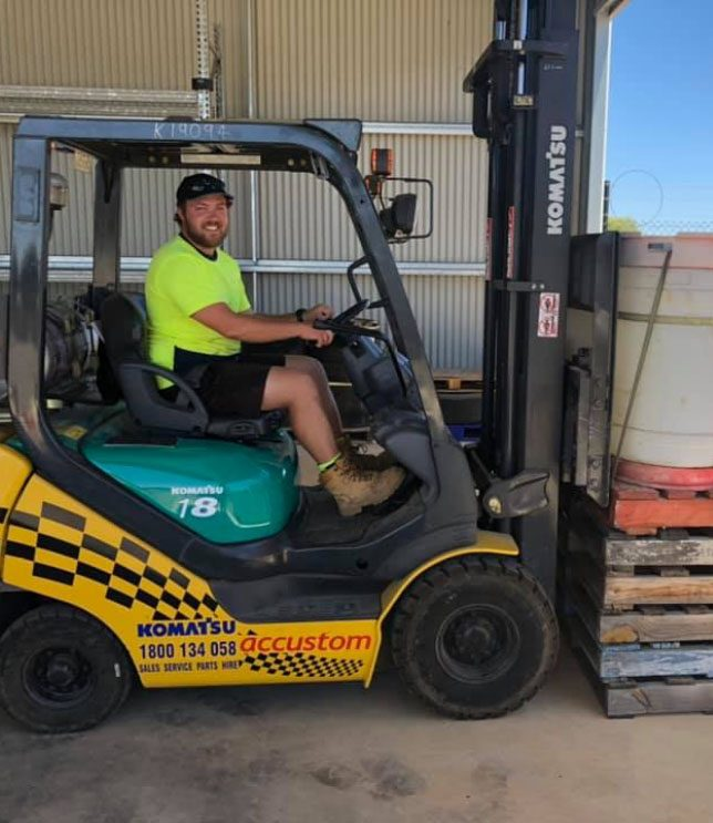 Forklift picture - Ashley Gordon